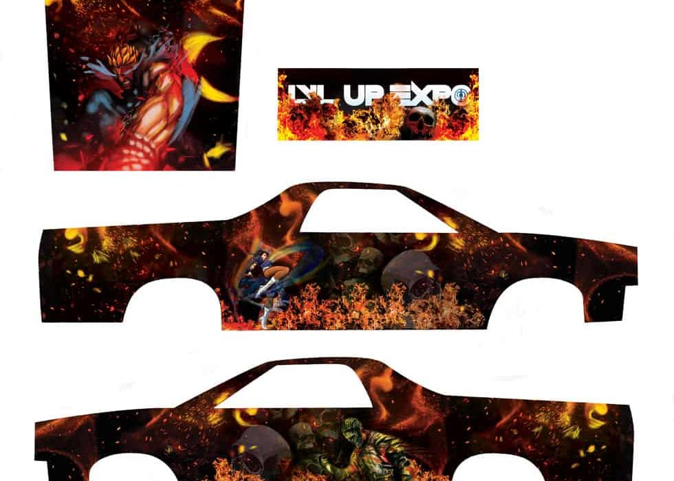 CandyVDesigns_LVL_Up_Expo_Car_Wrap